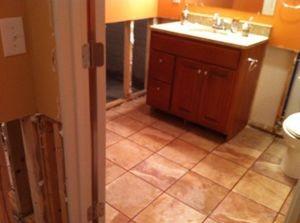 Water Damage Bathroom Sink