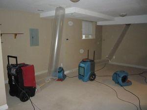 Water Damage Uxbridge Vacuuming Attic