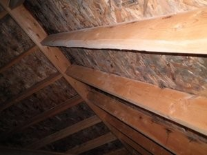 Water Damage Restoration of Attic Joises and Framework