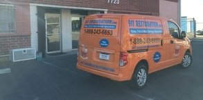 Mould and Water Damage Restoration Van